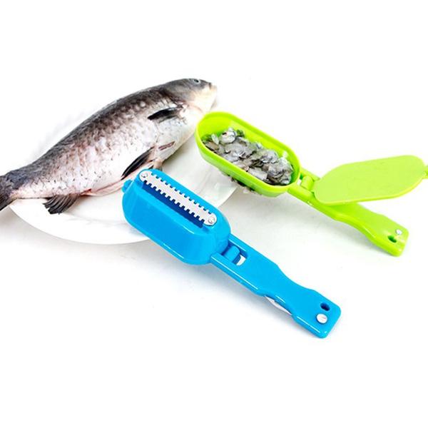 Fiskfjällare med uppsamling