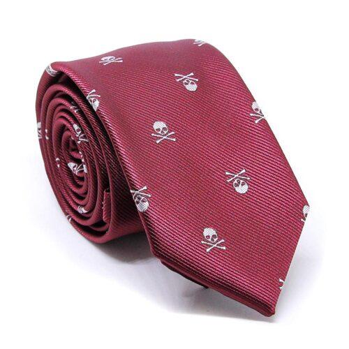 Smal modern slips med dödskallar - Flera färger