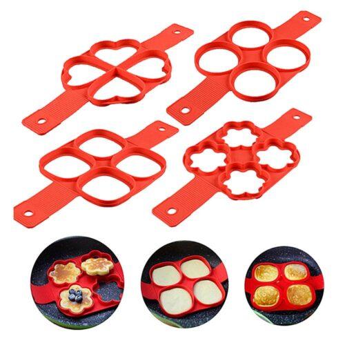 Form i silikon plättar / pannkakor - Flera former