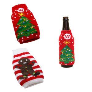 Juldekoration - Flaskbeklädnad m olika motiv