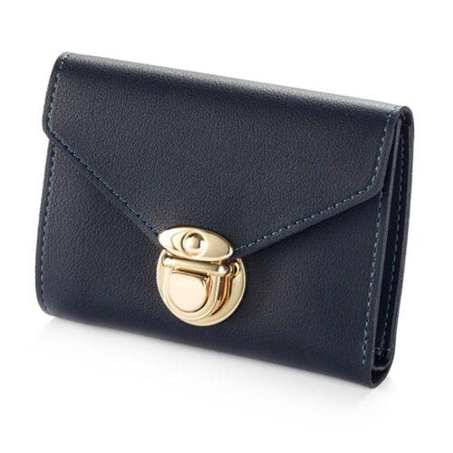 Plånbok dam med guldknäppe - Olika färger