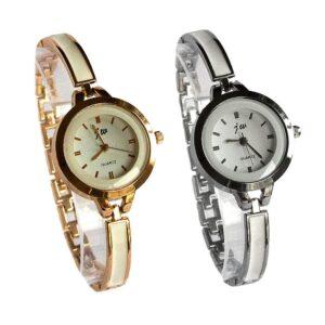 Nätt damklocka med smalt armband - Guld / Silver