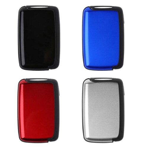 Smart utfällbar korthållare i aluminium - Flera färger