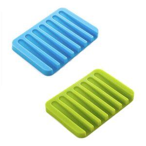 Tvålkopp i silikon med avrinning - Flera olika färger