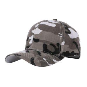 Keps / Baseballkeps Kamouflage Camo - Grå eller Grön