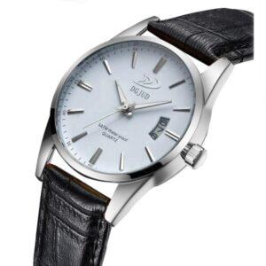 Stilren klocka i silver / vitt m datum - Olika färger