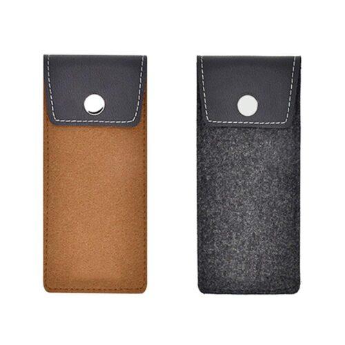 Smidigt glasögonfodral i filt och läder - Flera färger
