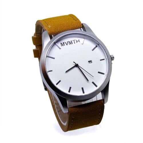 Klocka med mockaliknande armband - Flera färger