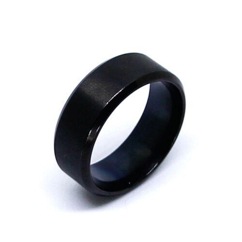 Stilren ring herr i rostfritt stål 19-21 mm - Black