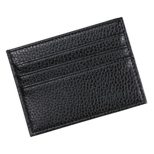 Tunn korthållare 7 fack läderimitation - Svart / Brun