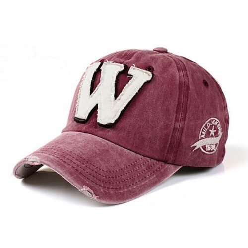 "Keps / Baseballkeps Vintage ""W"" - Olika färger"