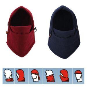 Flexibel huva / ansiktsmask i fleece - Olika färger