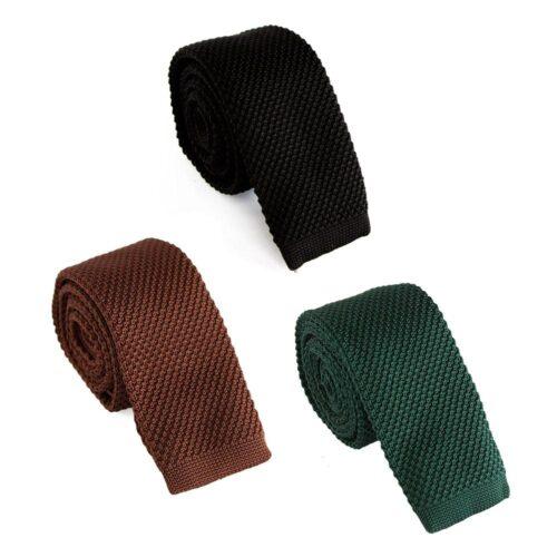 Smal stickad slips enfärgad - Olika färger