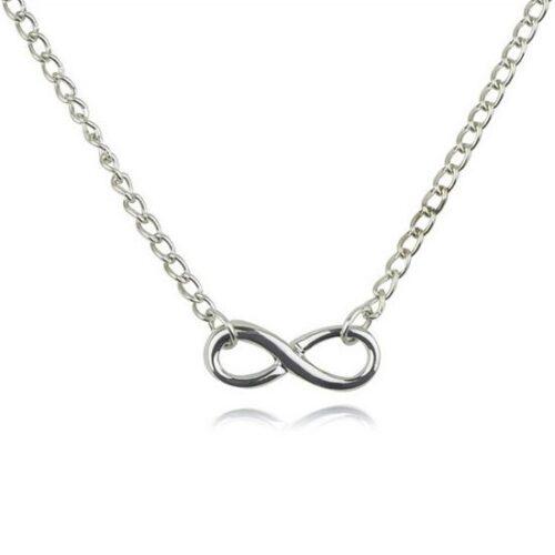 Enkelt halsband infinity - Olika färger