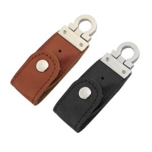 USB-minne 16 GB Nyckelring Läder / Metall - Olika färger