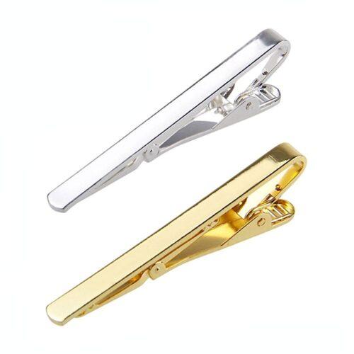 Enkel slipsklämma / slipsnål - Guld eller Silver