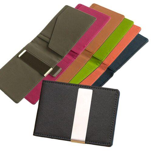 Korthållare med money clip / sedelklämma i stål - Olika färger
