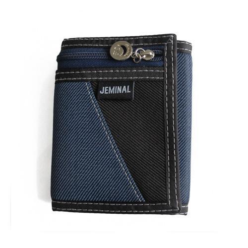 Blå / Svart tygplånbok