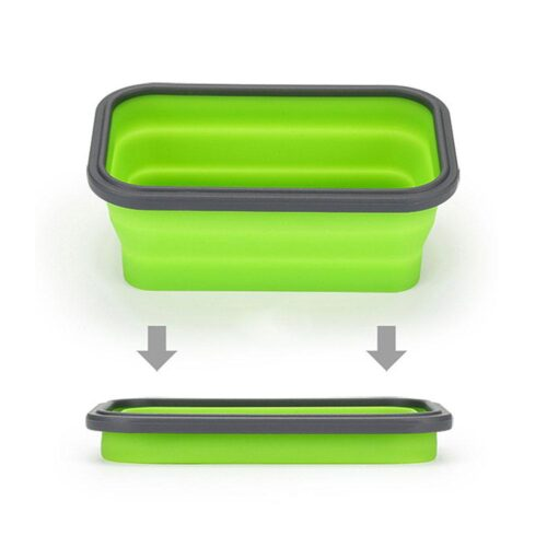 Ihopfällbar matlåda / förvaringslåda i silikon 800 ml - Flera färger