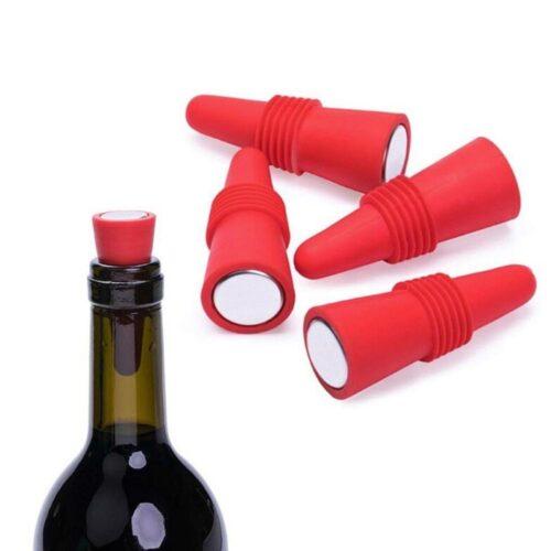 Flaskkork i silikon - Olika färger