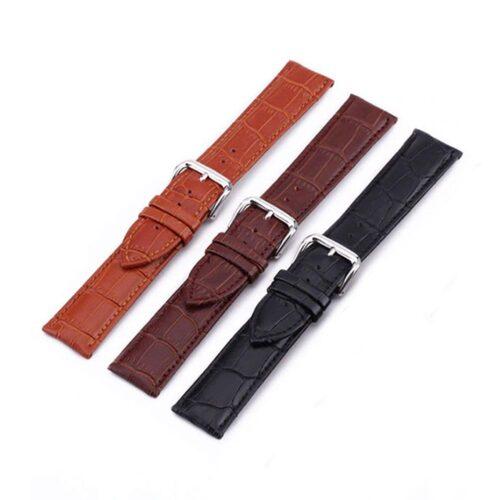 Klockarmband i läder 20 mm - Olika färger