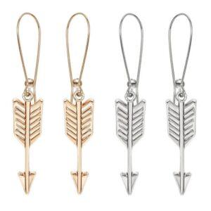 """Örhängen - """"Arrows"""" Guld / Silver"""