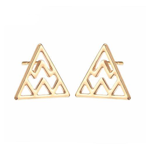 """Örhängen - """"Triangle ZigZag"""" Guld / Silver"""