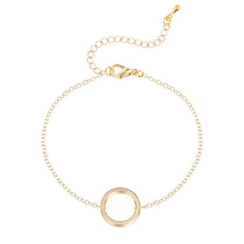 "Armband - ""Ring & Chain"" Guld / Silver"
