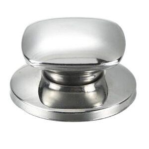Silverfärgad ersättningsknopp till lock kastrull etc