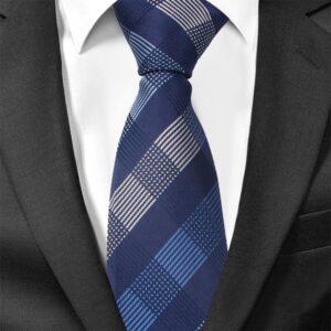 Smal slips blå bredrandig diagonalt