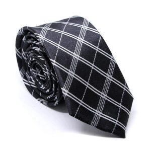 "Smal slips i svart med diagonala vita linjer ""Calum"""