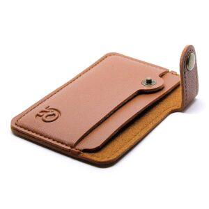 Korthållare Mini med knäppning - Ljusbrun
