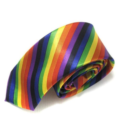 Slips randig regnbågsfärgad pride