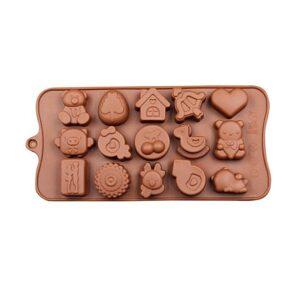 Silikonform för bakning / choklad - Roliga figurer