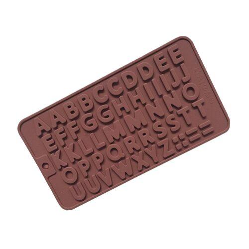 Silikonform för bakning / choklad - Bokstäver
