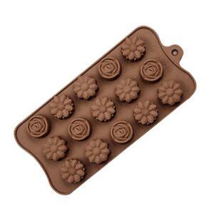 Silikonform för bakning / choklad - Blommor