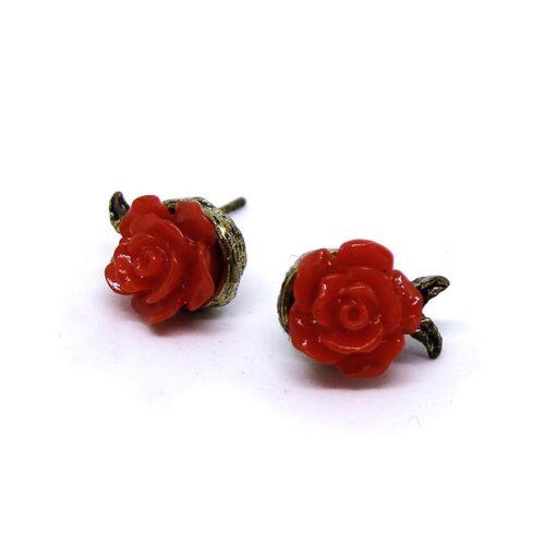 Örhängen - Små röda rosor
