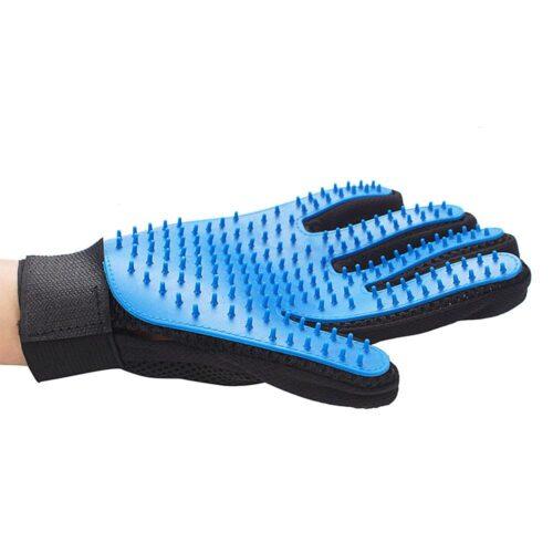 Handske / borste i silikon för borsta hund / katt