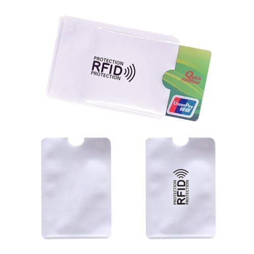 RFID-ficka för kreditkort i aluminium 3-pack
