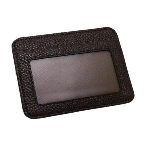Stilren korthållare med fönster - Mörkbrun