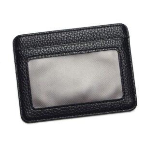 Stilren korthållare med fönsterfack - Svart