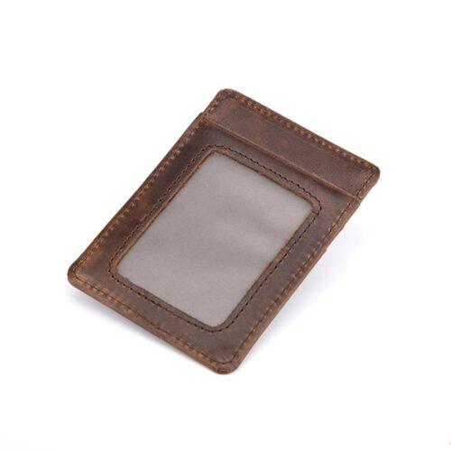 Vertikal korthållare med fönster - Mörkbrun