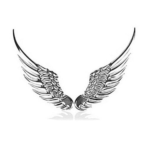 3D bildekal - Vingar i silver