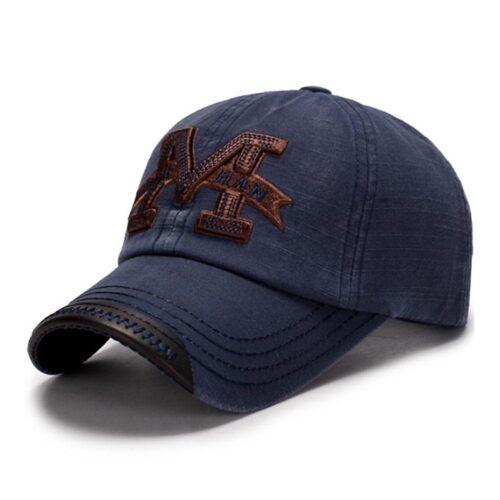 """Keps / Baseballkeps """"M"""" - Mörkblå"""
