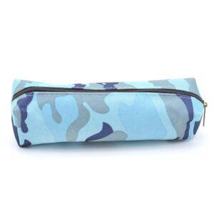 Liten sminkväska / pennskrin - Blått Kamouflage
