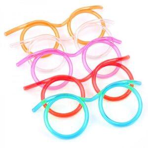 Sugrörsglasögon olika färger 3-pack