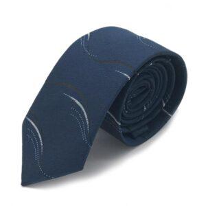 Slips - Mörkblå med vågiga linjer
