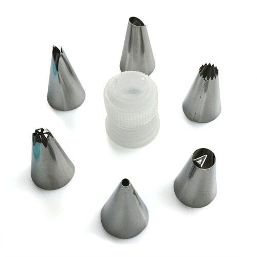 Spritspåse i silikon + 6 tyllar och koppling
