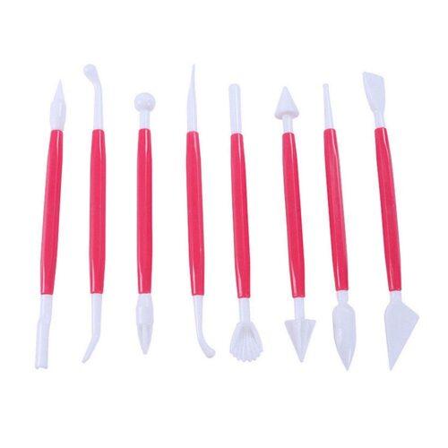 Dekorationsverktyg tårtor / bakverk - Set 8 delar