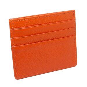Korthållare i konstläder - Orange
